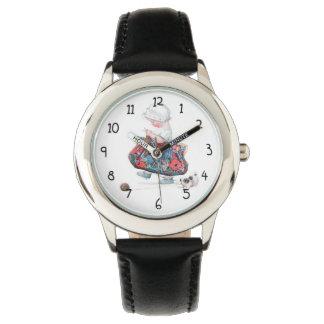 Chica de la moda del vintage relojes de mano