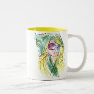 Chica de la moda taza