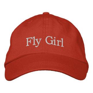 Chica de la mosca gorra de beisbol bordada