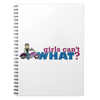 Chica de la motocicleta spiral notebook
