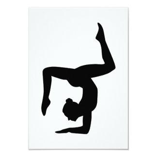 """Chica de la mujer de la yoga invitación 3.5"""" x 5"""""""