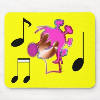 Chica de la música mousepads