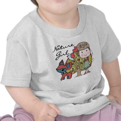 Chica de la naturaleza camisetas