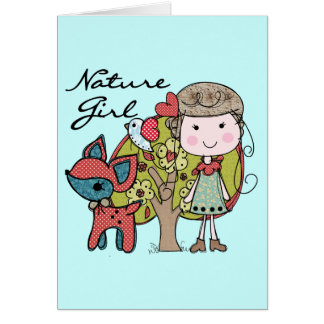 Chica de la naturaleza tarjeta