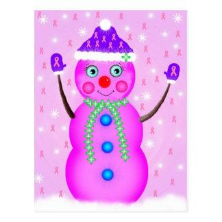 Chica de la nieve de la esperanza postales