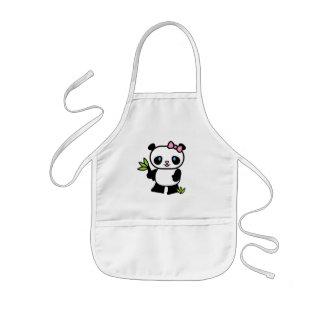 Chica de la panda de Lil Delantales