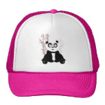 Chica de la panda - rosa gorros