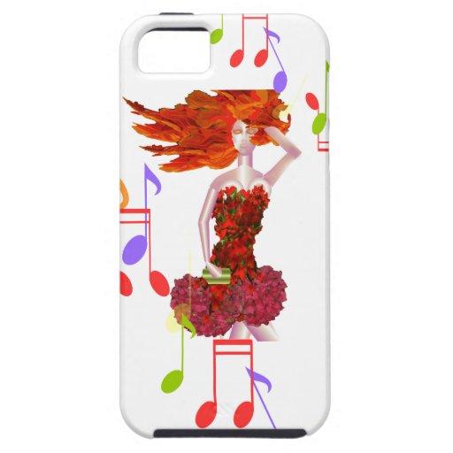 Chica de la parte alta - caja del teléfono iPhone 5 Case-Mate cobertura