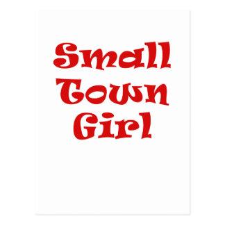Chica de la pequeña ciudad postal