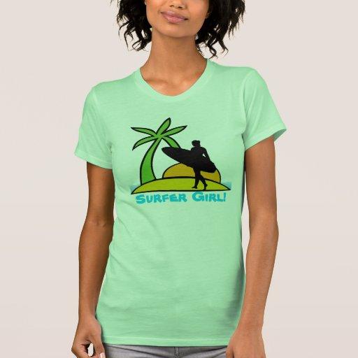 ¡Chica de la persona que practica surf! Camiseta