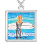 Chica de la persona que practica surf grimpola personalizada