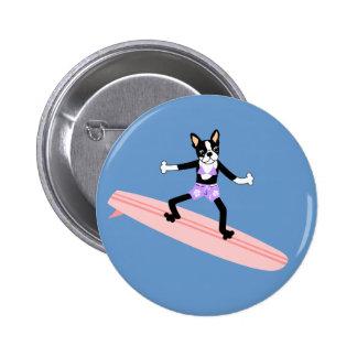 Chica de la persona que practica surf de Boston Te Pin Redondo 5 Cm