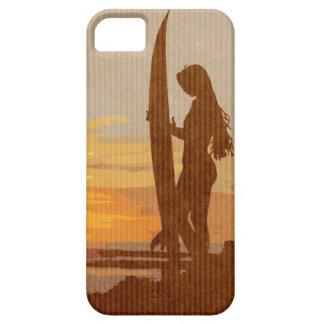 Chica de la persona que practica surf de Costa iPhone 5 Fundas