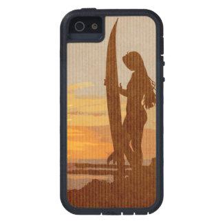 Chica de la persona que practica surf de Costa Ric iPhone 5 Case-Mate Cobertura
