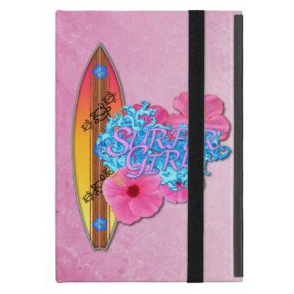 Chica de la persona que practica surf iPad mini carcasa