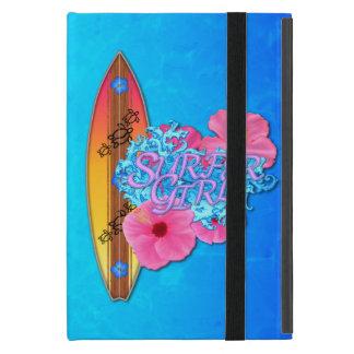 Chica de la persona que practica surf iPad mini protector