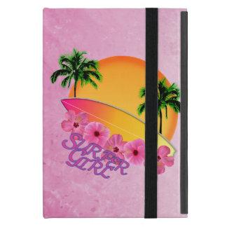 Chica de la persona que practica surf iPad mini protectores