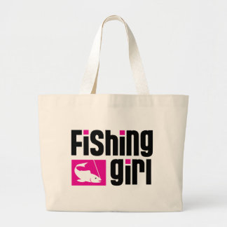 Chica de la pesca bolsas