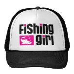 Chica de la pesca gorras de camionero