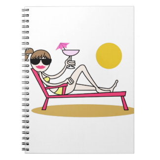 Chica de la playa notebook