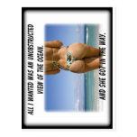 Chica de la playa tarjeta postal
