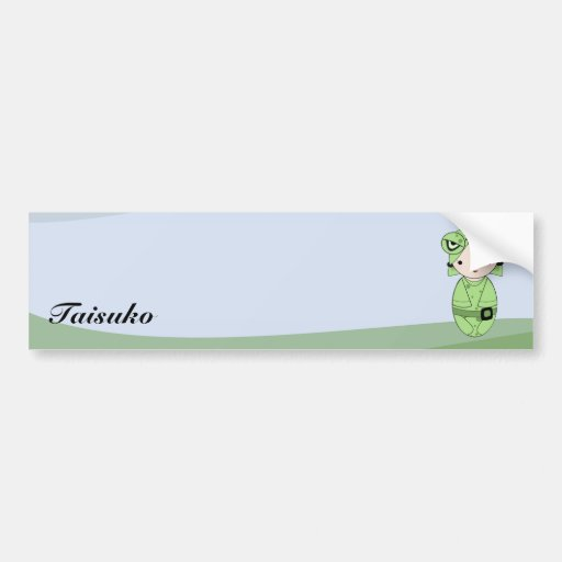 Chica de la rana etiqueta de parachoque