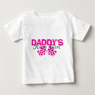 Chica de la raza del papá playera de bebé