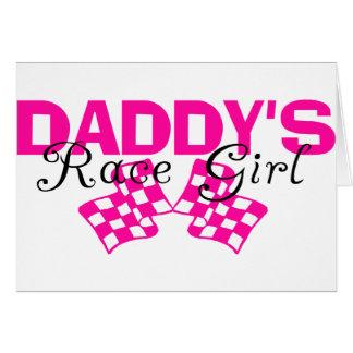 Chica de la raza del papá tarjeta de felicitación