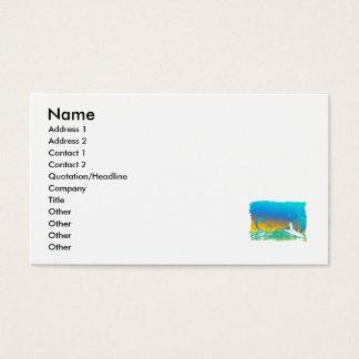 Chica de la resaca tarjetas de visita