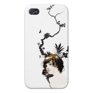 Chica de la selva tropical iPhone 4 carcasa