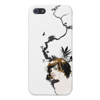 Chica de la selva tropical iPhone 5 funda