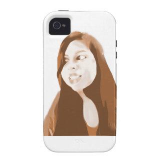 Chica de la sepia vibe iPhone 4 fundas