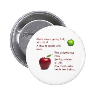 Chica de la sidra de Apple Pin