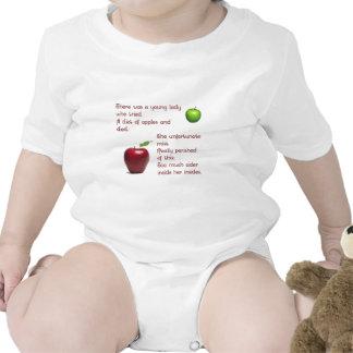 Chica de la sidra de Apple Trajes De Bebé