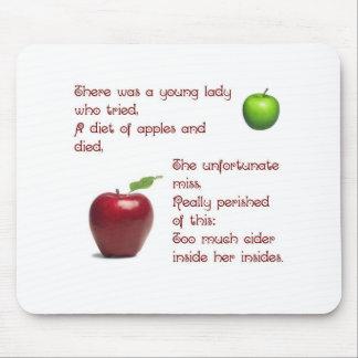 Chica de la sidra de Apple Alfombrilla De Ratón