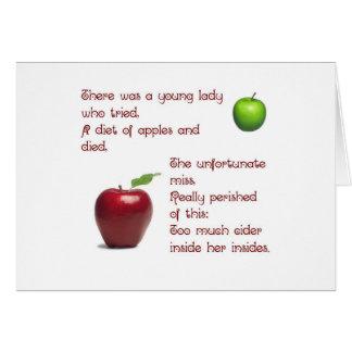 Chica de la sidra de Apple Felicitación