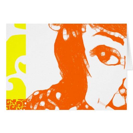 """Chica de la sol 7"""" x 5"""" tarjeta (del paisaje)"""