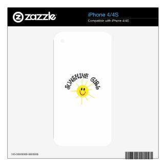 Chica de la sol skins para iPhone 4S