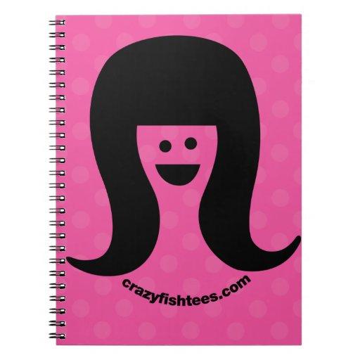 Chica de la sonrisa del tirón de CRAZYFISH Cuaderno