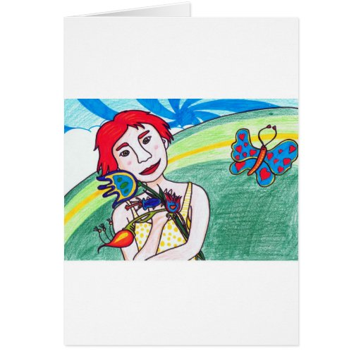chica de la tarjeta del día de San Valentín