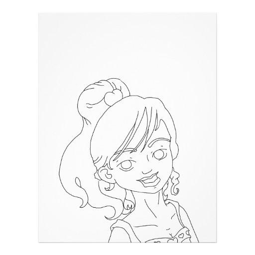 Chica de la tarjeta del día de San Valentín Tarjetas Informativas