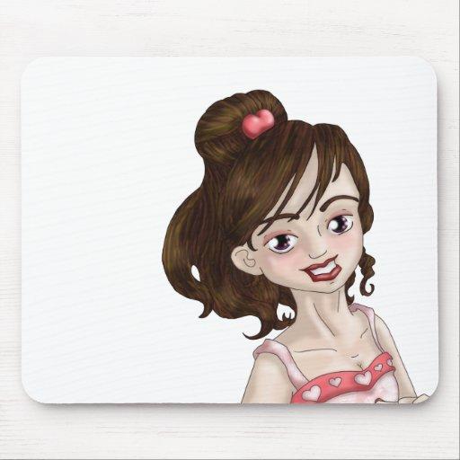 Chica de la tarjeta del día de San Valentín Tapete De Raton