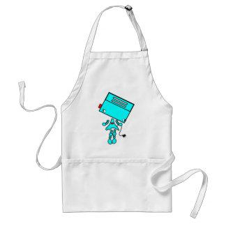 Chica de la tostadora delantal