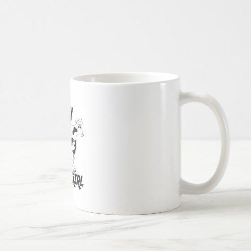 Chica de la vaca tazas de café