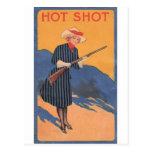 Chica de la vaca - vintage caliente del tiro postal
