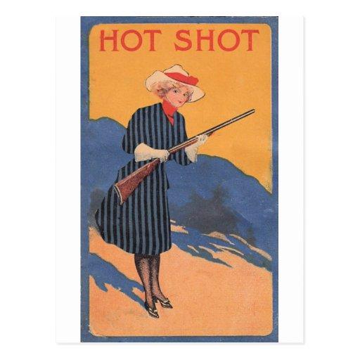 Chica de la vaca - vintage caliente del tiro tarjetas postales