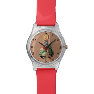 Chica de la vespa reloj