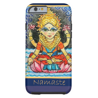 Chica de la yoga de Namaste Funda De iPhone 6 Tough