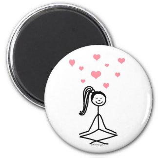 Chica de la yoga imán redondo 5 cm