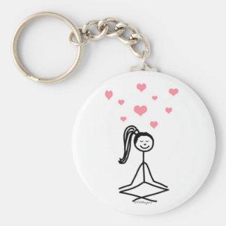 Chica de la yoga llavero personalizado
